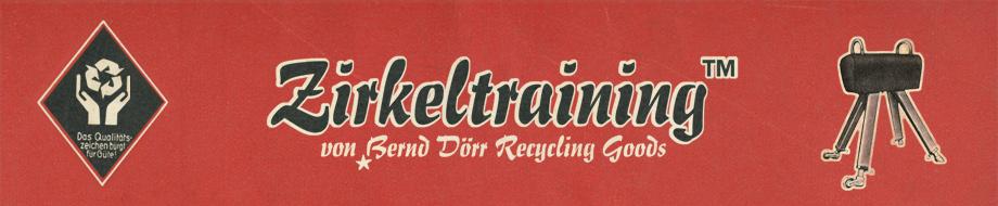 Zirkeltraining, Bernd Dörr Recycling Goods, Taschen aus schön gebrauchten Sportgeräte-Leder und Turnmatten